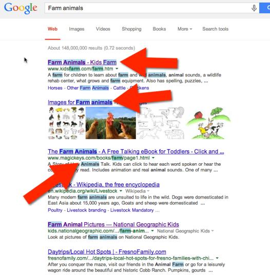 highlight google search
