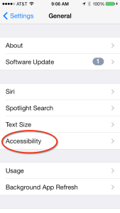 Accessiblity in iOS7