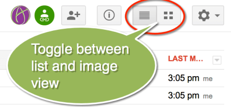 toggle image and list view