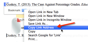 right click copy link address
