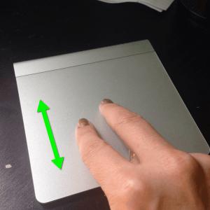 2 finger scrolling