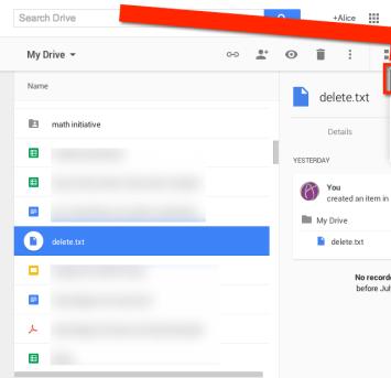 Settings Google Drive