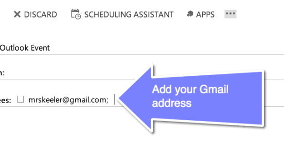 add your Gmail Address