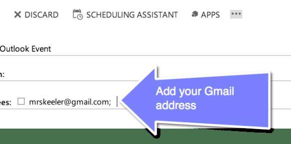 add your Gmail Address