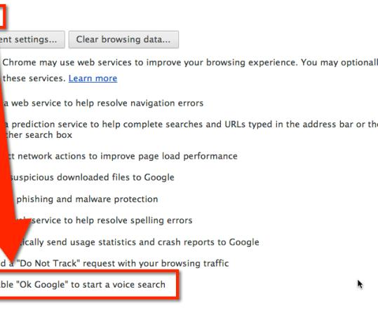 enable ok google