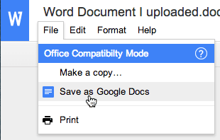 file save as google docs