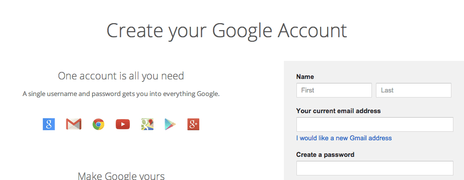 Create a Google Account Without Gmail - Teacher Tech