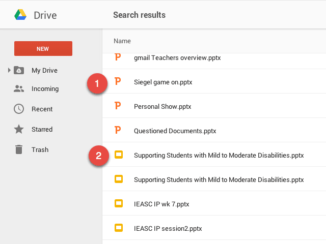 PowerPoint and Google Slides