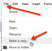 file make a copy google docs