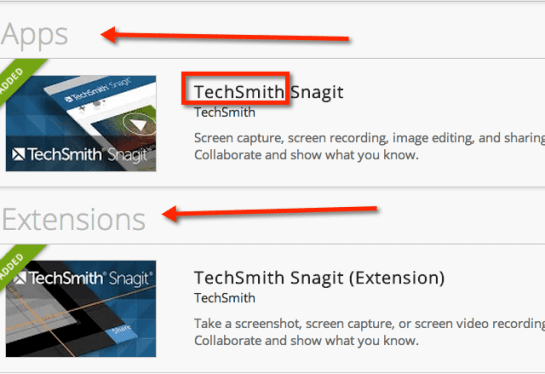 techsmith snagit chrome extension