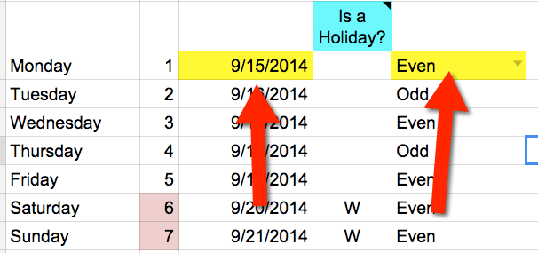 Even or odd block schedule