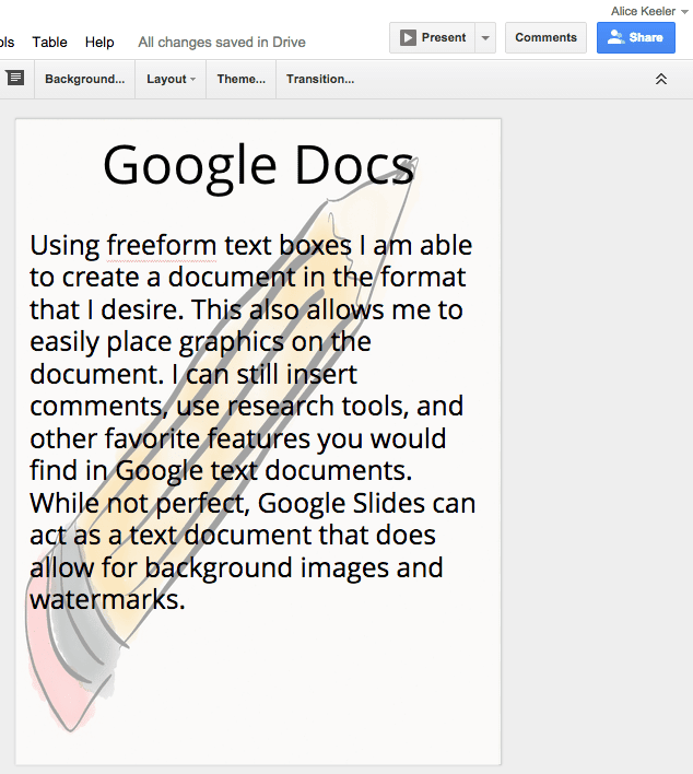 Create A Background Image Or Watermark On A Google Doc Teacher Tech - How to create a newsletter in google docs