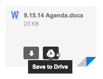 add word from gmail to drive