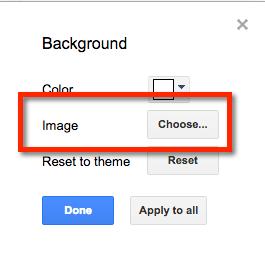choose background image google slides