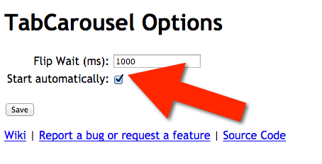 tabcarousel options