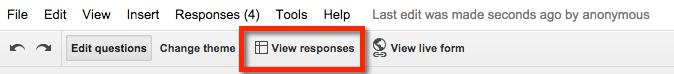view responses google sheets