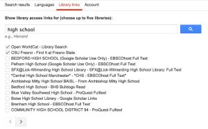High School Google Scholar linking