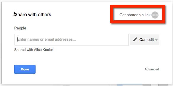 Get Sharable Link Google Docs