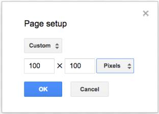 Google Draw Page Set Up