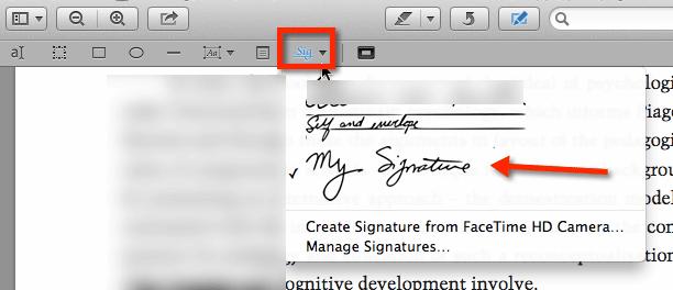 Insert My Signature