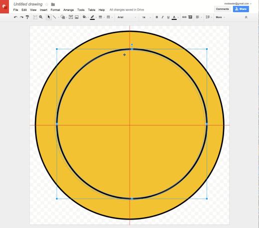Google Drawing alignment