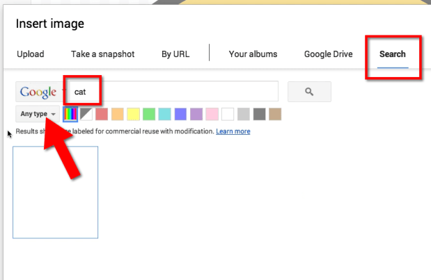 Google Drawing Search for Image