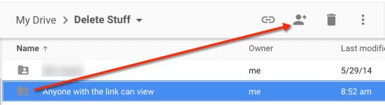 Share in Google Drive