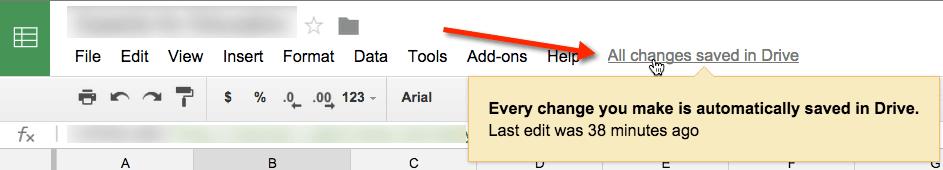 Google Docs Saved