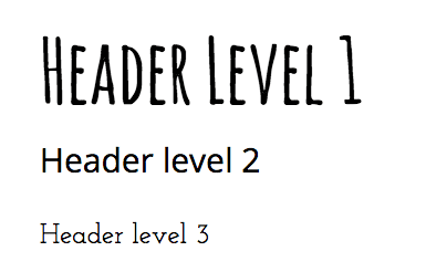 Google Docs header levels