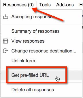 get pre-filled URL