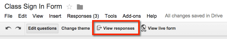 google forms view responses
