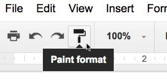 paint format