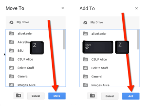 Move or add files