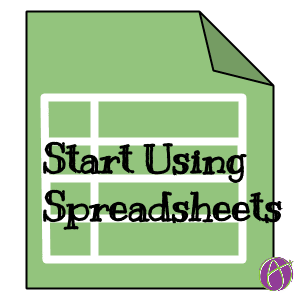 start using spreadsheets