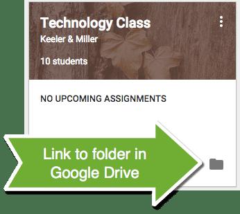 Google Classroom Link to Folder