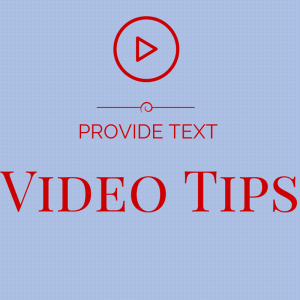 Video Tips (1)