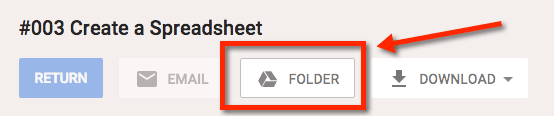 Click on folder button in the assignment grading page.