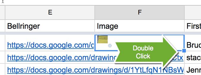Double click the fill down square