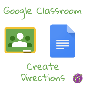 Google Classroom Create Direction