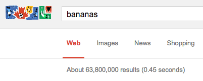 63 million results on a bananas search