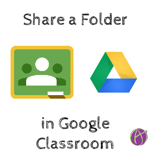 share a folder in google classroom