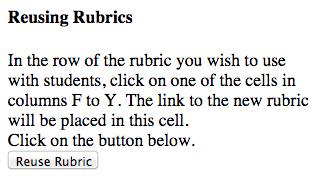 Reuse Rubric