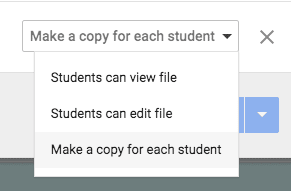Make a copy for each student