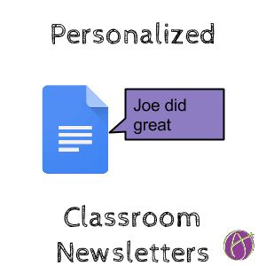 create personalized teacher newsletters for each student teacher tech