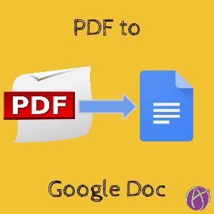 PDF to Google Doc