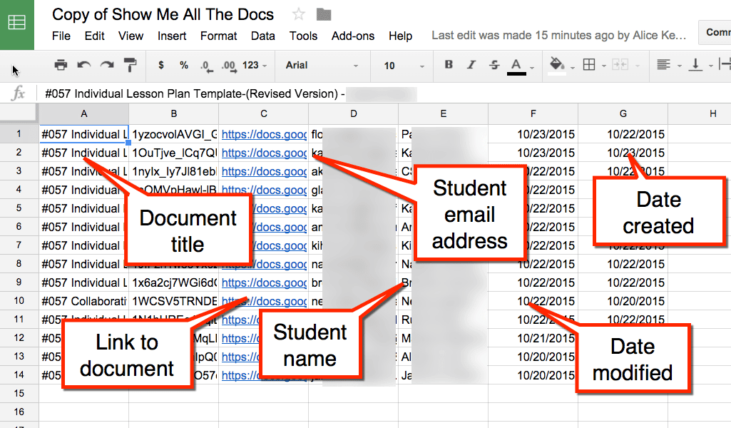 Alice Keeler Google Classroom Show All The Files