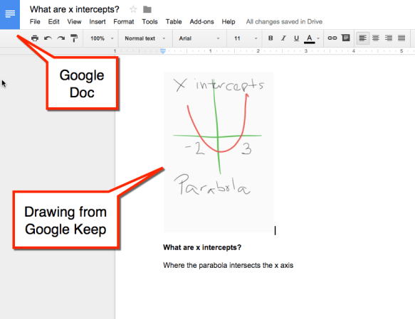 Google Keep to Google Doc