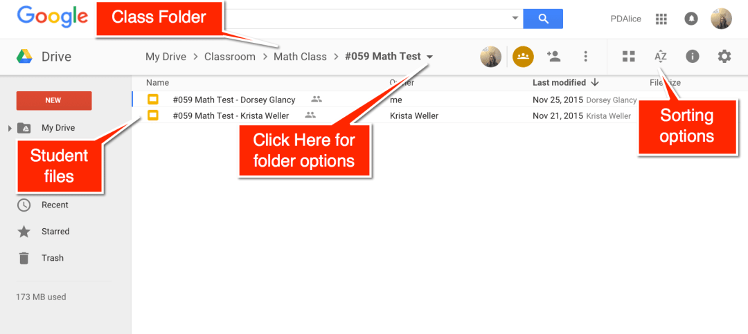 Google Drive for Google Classroom