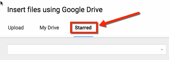 starred documents in Google Drive