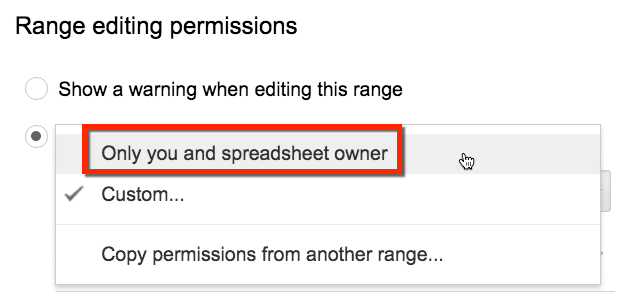only you and the spreadsheet owner